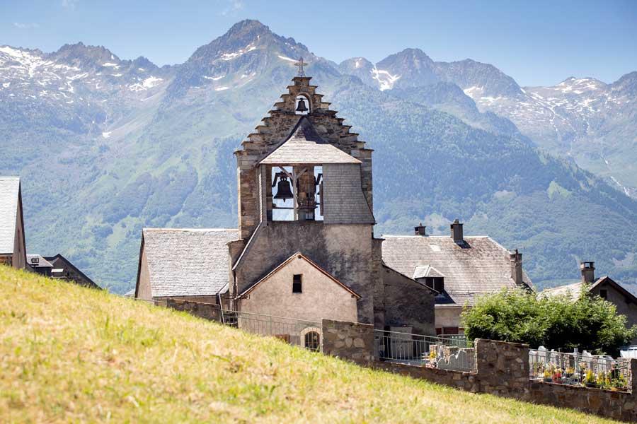 Eglise vallée de Barèges proche du Pic du Midi de Bigorre
