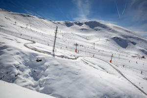 Ski à Hautacam -Vue du domaine Hautes-Pyrénées