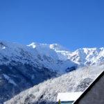 Hôtel de la Gare Pierrefitte-Nestalas vue des montagnes sous la neige